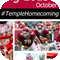 Temple homecoming webpage screen shot